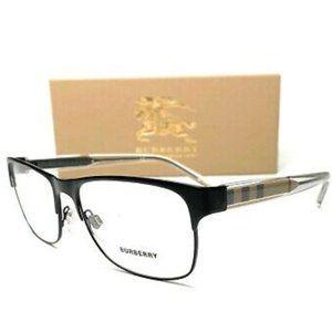 Burberry Men's Matte Black Rectangle Eyeglasses!